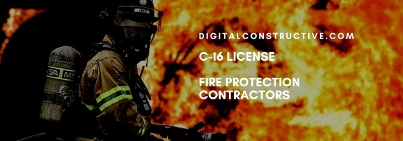 C 16 License For Fire Protection Contractors Digital