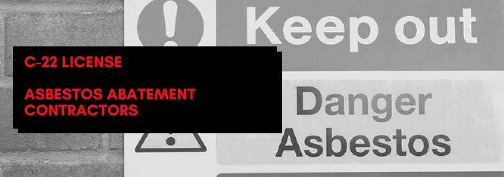 C 22 License Asbestos Abatement Contractor Digital