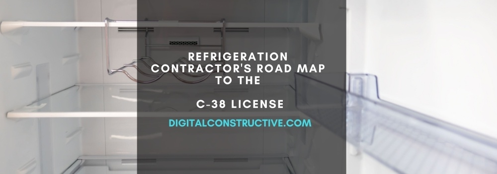 C 38 License Refrigeration Contractor S Road Map