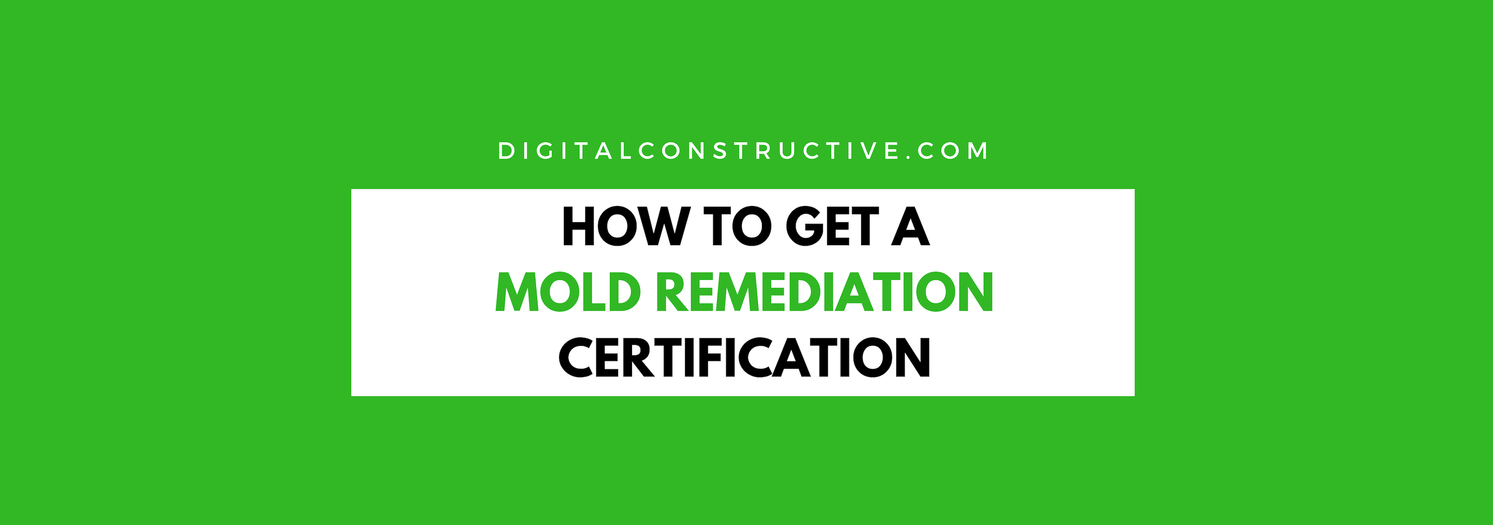 How To Get A Mold Remediation Certification Digital Constructive