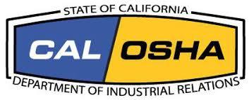 Logo of CAL OSHA which is the state specific agency that sets laws for occupational safety in california