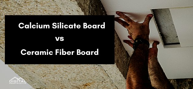 what is the difference between ceramic fiber insulation board and calcium silicate board