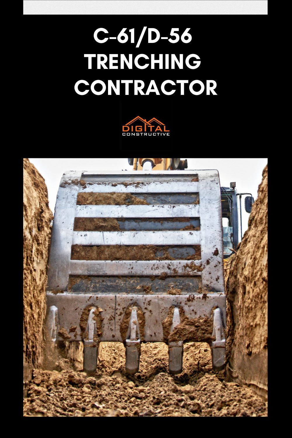 What can you do with the c-61 contractors license under the D-56 classification in California